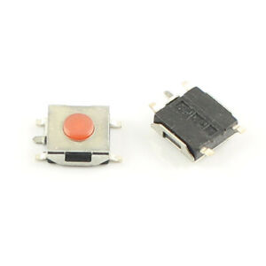 1000pcs Momentary Tactile Tact Red Push Button Switch 5 Pin Smd Smt 6x6x2 7mm