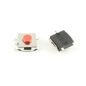 1000pcs Momentary Tactile Tact Red Push Button Switch 5 Pin Smd Smt 6x6x3 1mm