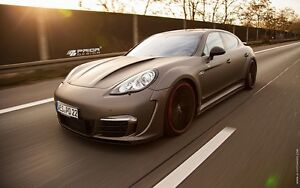 Porsche Panamera 970 Wide Body Kit Front rear Bumper Hood Flares Turbo S Spoiler
