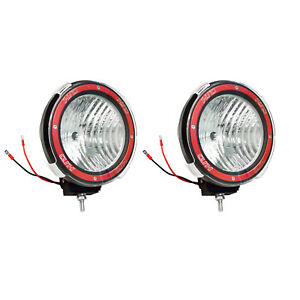Pair 7 Inches 4x4 Off Road 6000k 55w Xenon Hid Fog Lamp Light Flood 2pcs