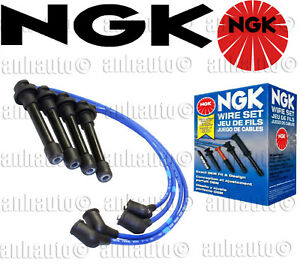 Ngk He76 8034 Blue Spark Plug Wire Set Made In Japan For Honda