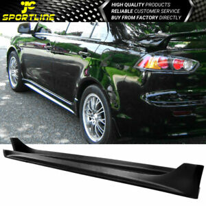 Fits 08 17 Mitsubishi Lancer Oe Style Black Propylene Pp Side Skirts Bodykit