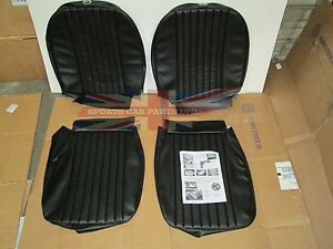 New Front Seat Covers Upholstery Mgb 1973 80 Factory Made In Uk Pleated Black