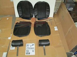 New Front Seat Covers Upholstery Mgb 1973 80 W Complete Headrests Made In Uk
