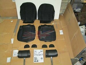 New Full Cloth Front Seat Covers Upholstery Mgb 1973 80 Made In Uk Headrests
