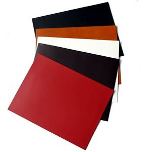 Roco Verre Real Leather Desk Mats White black Brown Red Tan