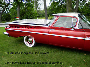 Chevy El Camino Fiberglass Hard Shell Bed Cover Tonneau Covers 1959 1960