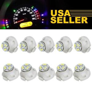 10 X White T5 Neo Wedge 1206 Led For A C Climate Heater Control Bulbs Lamp Light