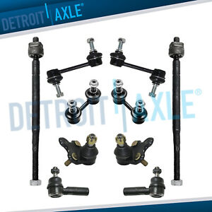 10pc Lower Ball Joint Tie Rod Front Rear Sway Bar Link For 93 95 Toyota Corolla