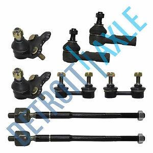 For 93 95 Toyota Corolla Geo Prizm 8pc Lower Ball Joint Tie Rod Front Sway Bar