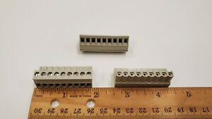 Wieland 25 340 3953 1 Pcb Female Connector 5 08mm 9 Position Pluggable Grey