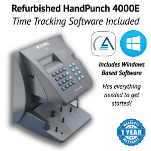 Refurbished Handpunch Hp 4000 e With Ethernet Amg Software Package