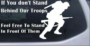Stand Behind Our Troops Soldiers Military Car Truck Window Laptop Decal Sticker