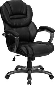 Flash Furniture High Back Black Leather Executive Swivel Office Chair With