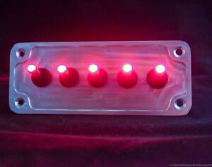 Led Toggle Switches Red W Billet Plate Racing