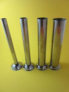 Set Of Four Manual Sausage Stuffer Tube Horn Funnel Stainless By Smokehouse Chef