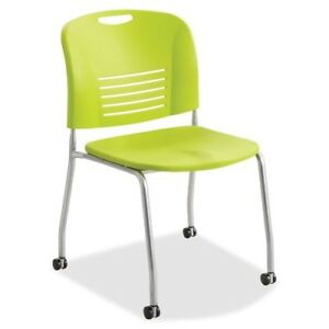Stack Chair W casters 22 1 2 x19 1 2 x32 1 2 2 ct Gsgn Saf4291gs