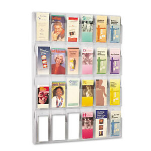 Literature Rack 24 Pockets 30 x2 x41 Clear Saf5601cl