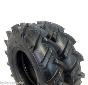 Set Of 2 4x8 400 8 4 00x8 Deere Gravely Lug Climb Hills Tubeless Tractor Tires