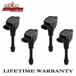 New Ignition Coil For 2002 2003 2004 2005 2006 Nissan Sentra 1 8l Uf351 Set Of 4