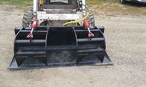 New Bobcat 72 Hd Grapple Bucket 2 Cylinders Bobcat Attachment