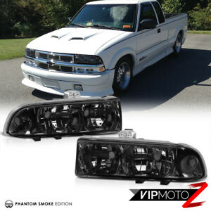 Chevy 98 04 S10 Pickup Zr2 ls lt Truck Blazer Smoke L r Diamond Headlight Lamp