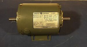 Double Shaft General Electric A c Motor 5k35kn166 1 4hp 208 220 440volt 3ph