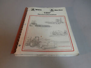 1997 Acgo White New Idea Hay Equipment Service Repair Shop Information Manual