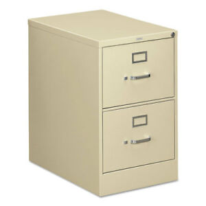2 Drawer File Vertical Legal 18 1 4 x26 1 2 x29 Putty Hon312cpl