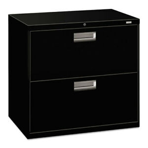 2 Drawer Lateral File W lock 30 x19 1 4 x28 3 8 Black Hon672lp