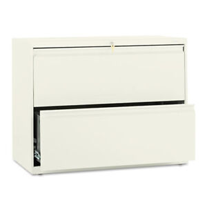 2 drawer Lateral File W lock 36 x19 1 4 x28 3 8 Putty Hon882ll
