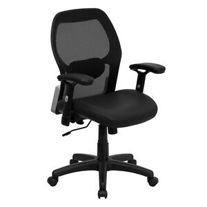 Flash Furniture Mid back Black Super Mesh Executive Swivel Office Chair With