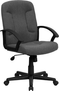 Flash Furniture Mid back Gray Fabric Executive Swivel Office Chair With