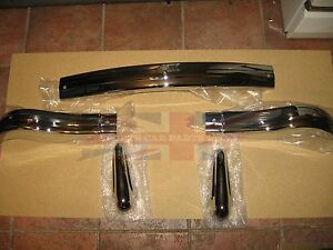 Brand New Mg Mga Front Bumper With Pair Bumper Overriders Or Guards 1955 1962