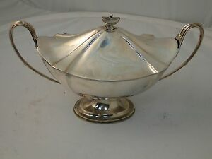 Sterling Silver Soup Tureen Medium Edwardian London 1911 Antique Great Shape