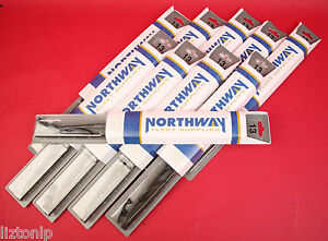 1 Lot Of 10 Each Northway 13 Winshield Wiper Blades 5115468 100 Natural Rubber