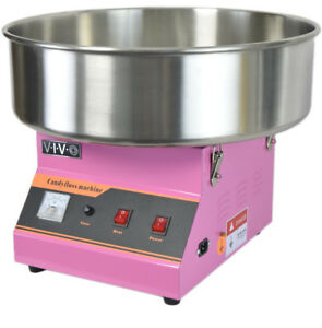 Electric Commercial Cotton Candy Machine Floss Maker Pink Vivo Candy v001