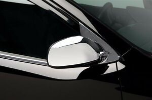 Chrome Mirror Cover Overlays Fits 2010 2011 2012 2013 Kia Forte W o Led Opening