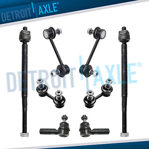 New 8 Front Rear Sway Bar Link 2 Inner Outer Tie Rod For Toyota Corolla