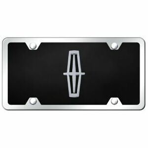 Lincoln Logo Acrylic Front License Plate Novelty Black Gloss Authentic