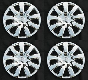 Set 4pcs 15 Chrome Rim Wheel Cover Hubcap For 2000 2017 Toyota Wheelcovers