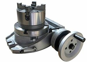 The Adapter And 4 Jaw Chuck For Mounting On A 12 Rotary Table