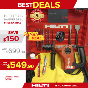 Hilti Te 7 c Hammer Drill preowned Free Smart Watch Bits Chisel Fast Ship