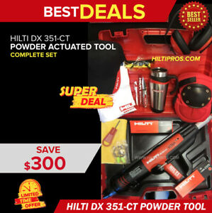 Hilti Dx 351 ct Power Actuated Tool preowned L k free Hilti Extras Fast Ship