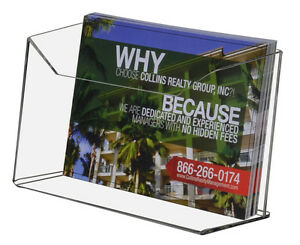 Clear Acrylic Postcard Display For 6 w Literature Wall Or Counter lot Of 6