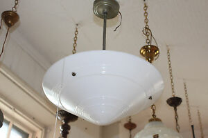 Art Deco Mid Century Modern Phoenix Glass Space Age Chandelier Light 1 Of 7 5039