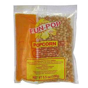 Gold Medal Fun Pop Popcorn Kit 36 Pack 4 Oz Popper Bags Movie Theatre Popcorn