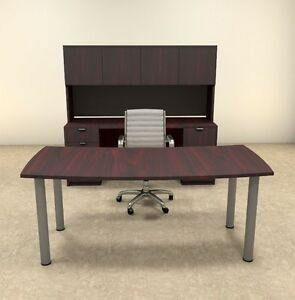 5pc Modern Contemporary Executive Office Desk Set of con d3