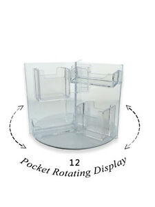 Lot Of 12 Rotating Business 12 Pocket Gift Card Holder Counter Top Rack Display