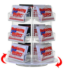 Lot Of 6 Rotating Business Card 9 Pocket Holder Counter Top Rack Display Spin